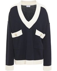 Claudie Pierlot Knitted Sweater Navy - Blue