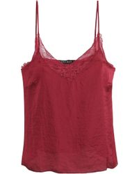 Love Stories - Lace-trimmed Satin Camisole - Lyst