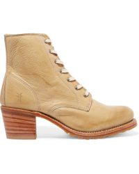 Frye - Sabrina Leather Ankle Boots - Lyst