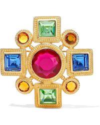 Ben-Amun 24-karat Gold-plated Swarovski Crystal Brooch Gold - Metallic