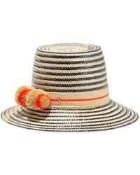 Yosuzi Amara Woven Straw Hat - Orange