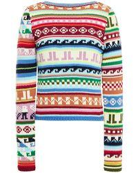 Lanvin - Fair Isle Wool-blend Sweater - Lyst