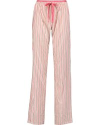 CALVIN KLEIN 205W39NYC - Striped Cotton Pyjama Trousers - Lyst