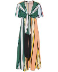 Paul Smith Knotted Striped Woven Dress - Multicolour