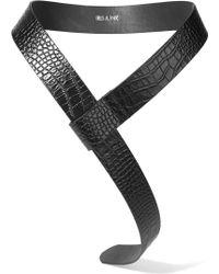 Iris & Ink - Charlie Croc-effect Leather Wrap Belt - Lyst