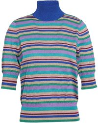 Baum und Pferdgarten Metallic Striped Knitted Top Multicolour
