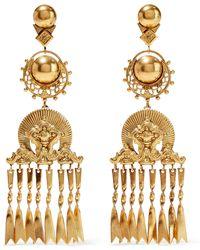 Elizabeth Cole - Burnished 24-karat Gold-plated Earrings Gold - Lyst