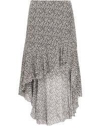 IRO - Asymmetric Floral-print Georgette Skirt - Lyst