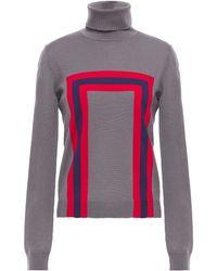 Stella Jean Intarsia Wool Turtleneck Jumper - Multicolour