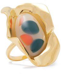 Ejing Zhang Effie 18-karat -plated Resin Ring - Metallic