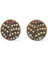 Ileana Makri Gold-tone Crystal Earrings Gold - Metallic