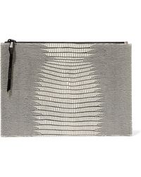 Opening Ceremony - Lyo Lizard-effect Leather Clutch - Lyst