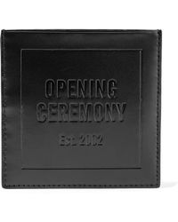 Opening Ceremony Embossed Leather Cardholder - Black