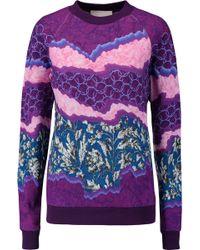 Peter Pilotto - Printed Cotton-jersey Sweatshirt - Lyst