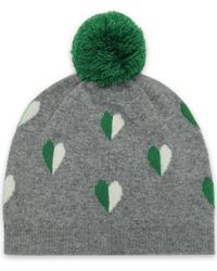 8b76e75ff76 Chinti   Parker - Woman Pompom-embellished Intarsia Wool And Cashmere-blend  Beanie Gray