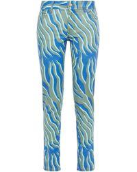 Just Cavalli Printed Mid-rise Slim-leg Jeans Army Green