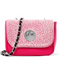Hill & Friends - Happy Printed Calf Hair And Leather Shoulder Bag - Lyst