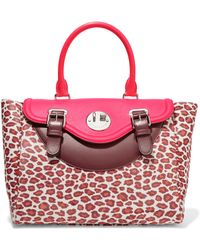 Hill & Friends - Happy Paneled Leather And Printed Calf Hair Tote - Lyst