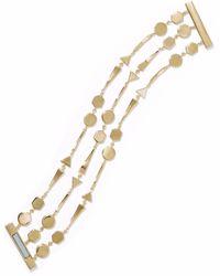 Noir Jewelry - Grid Work 14-karat Gold-plated Bracelet - Lyst