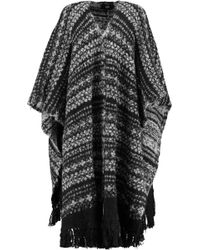 Line - Blanche Fringed Alpaca-blend Cape - Lyst