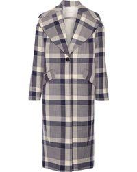 Adam Lippes | Plaid Wool-blend Coat | Lyst