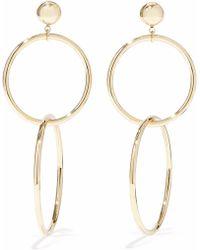 Iris & Ink - Razia 18-karat Gold-plated Sterling Silver Hoop Earrings - Lyst