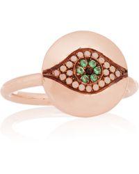 Iam By Ileana Makri - Little Dawn Rose Gold-plated Cubic Zirconia Ring - Lyst