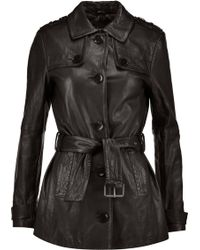 J Brand | Arrow Leather Trench Coat | Lyst