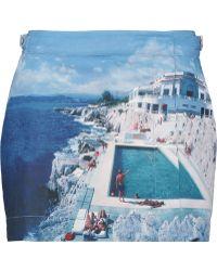 Orlebar Brown - Saffy Printed Poplin Wrap Mini Skirt - Lyst