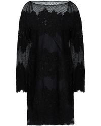 Valentino - Embellished Embroidered Silk-blend Tulle Mini Dress - Lyst