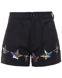 Love Moschino Sequin-embellished Twill Shorts - Black