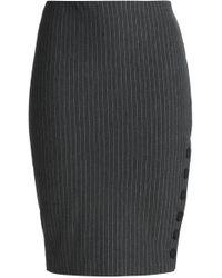 Bailey 44 Pinstriped Stretch-jersey Pencil Skirt Dark Gray