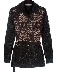 Alexis Tim Belted Guipure Lace Jacket - Black