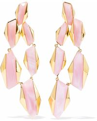 Noir Jewelry - Sparks Fly 14-karat Gold-plated Resin Earrings Baby Pink - Lyst