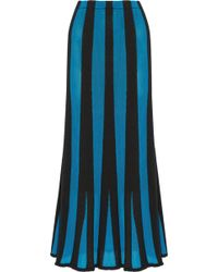 Adam Lippes - Fluted Panelled Terry And Open-knit Maxi Skirt - Lyst