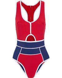 Duskii Cutout scuba swimsuit - Rot