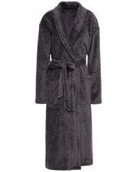 Calvin Klein Chenille Robe - Black