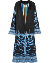 Etro - Tasseled Embroidered Silk-twill Jacket - Lyst