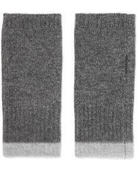 Duffy - Ribbed Wool And Cashmere-blend Fingerless Gloves - Lyst