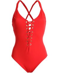 Heidi Klum - Lace-up Swimsuit - Lyst