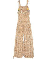 Chloé - Pleated Printed Lace Jumpsuit - Lyst