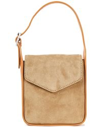 Rag & Bone Leather-trimmed Suede Tote - Natural