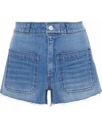 AMO - Sailor Distressed Denim Shorts Mid Denim - Lyst
