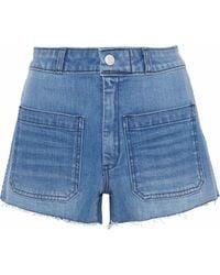 AMO - Sailor Distressed Denim Shorts - Lyst