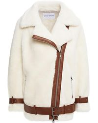 Stand Studio Colleen Faux-shearling Jacket - White