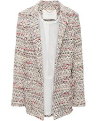 Adam Lippes Bouclé-tweed Blazer Ivory - White