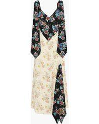 Christopher Kane Embellished Floral-print Crepe Maxi Dress Multicolor