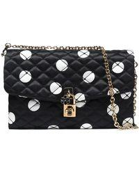 Dolce & Gabbana - Quilted Polka-dot Satin Shoulder Bag - Lyst