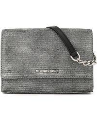 MICHAEL Michael Kors - Leather-trimmed Metallic Knitted Shoulder Bag - Lyst