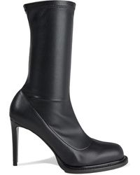 Stella McCartney Palmer Faux Stretch-leather Sock Boots Black